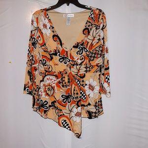 Women's Dress Barn mock wrap front top size xl